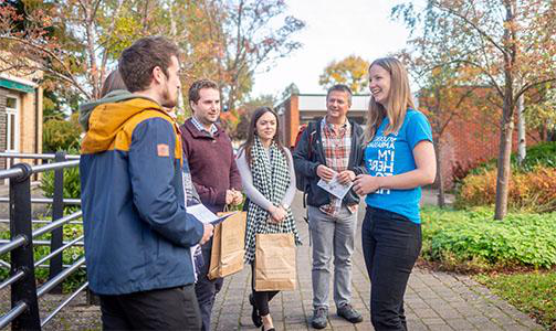 Visitors at a University of Worcester open day