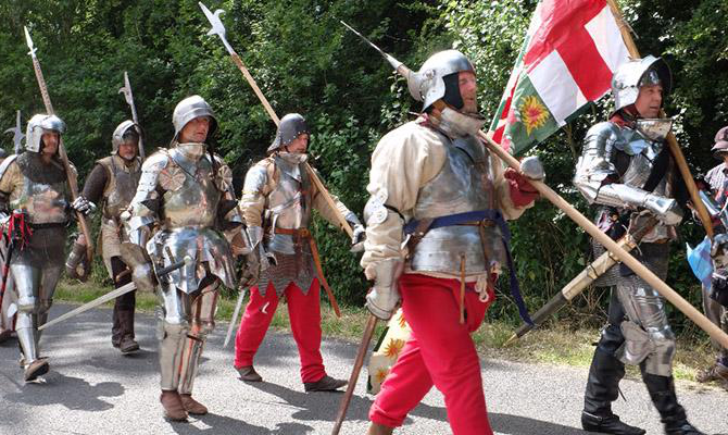 Re-enactment of English Civil War scene