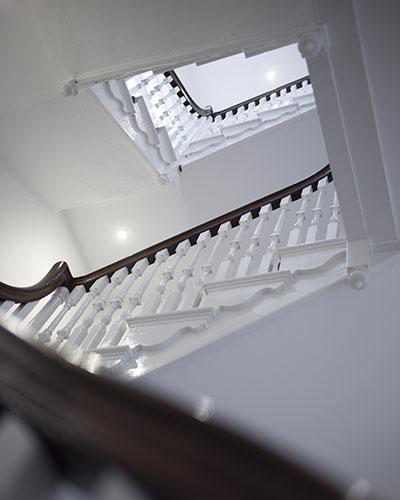 The staircase in Barrington House