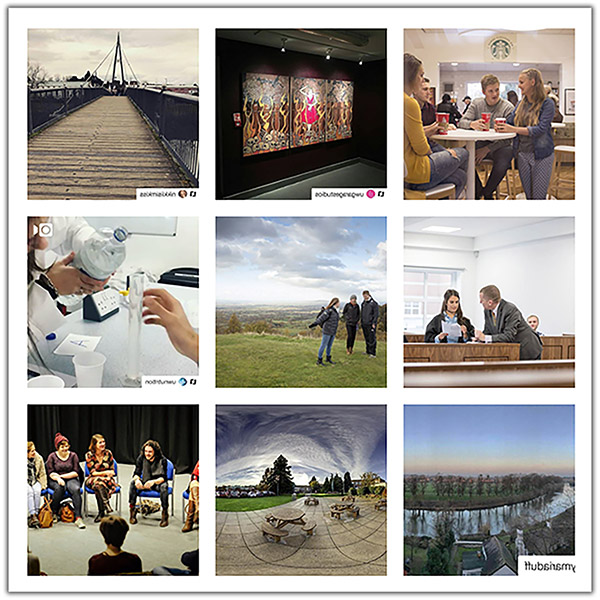 Grid of Instagram的 images
