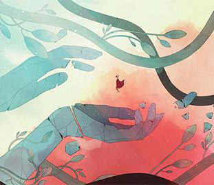 Screenshot of the game Gris