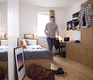 inside a student accomodation